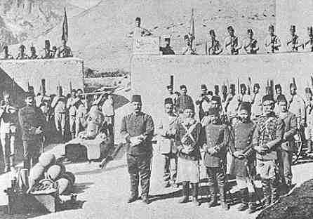 Officers of the garrison at Zeitun