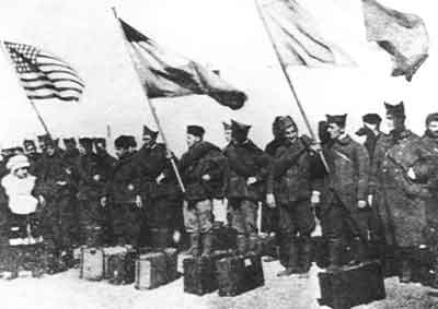 Armenian soldiers from the USA arriving at Port Said