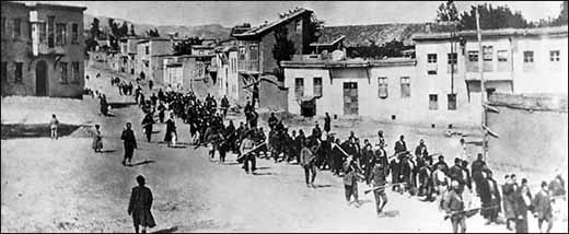 Armenians forced to march in 1915