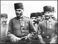 Ataturk, right, with Liman Von Sanders