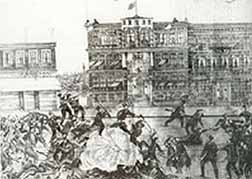 The Ottoman Bank under attack by Armenians