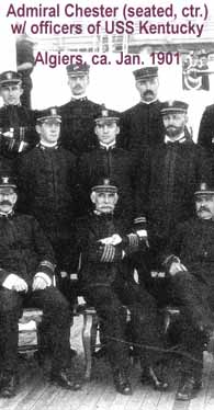 Admiral Colby Chester, center, in 1901
