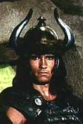 Arnold Schwarzenneger as Conan the Barbarian. Cimmerian? What's that? Conan must have been Turkic.