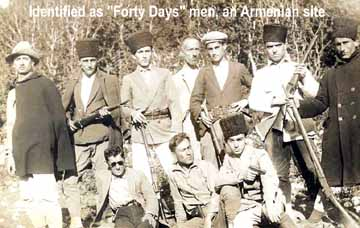 "An Armenian site claims these men were some of the Musa Dagh ""heroes."""