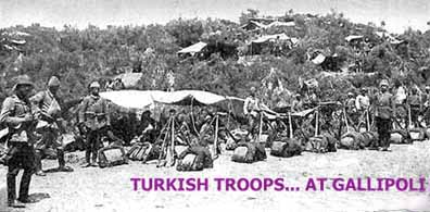 Turkish troops at Gallipoli