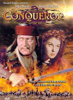 "GENGHIS KHAN, as portrayed by... John Wayne. Poster for ""The Conqueror."""