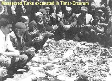 Massacred Turks excavated in Erzurum