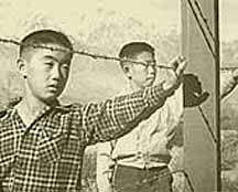 Interned Japanese boys during WWII America