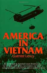 "book cover: Guenter Lewy's ""America in Vietnam"""