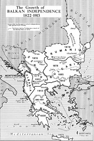 The Balkan States that Broke Away (1822-1913)