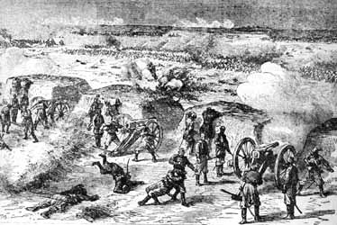Depiction of Plevna battle