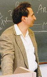 Peter Balakian at work, Colgate University classroom