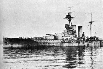 The mighty dreadnought of the British, the Queen Elizabeth
