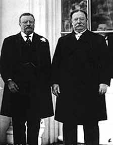 President William Howard Taft, shown here with Teddy Roosevelt