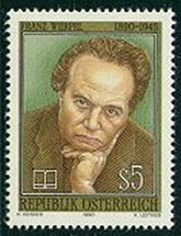 Franz Werfel honored on an Austrian stamp