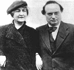 Franz Werfel with wife, circa 1930