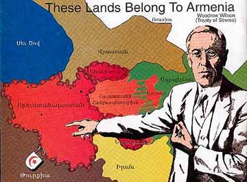 Woodrow Wilson awards land to Armenians